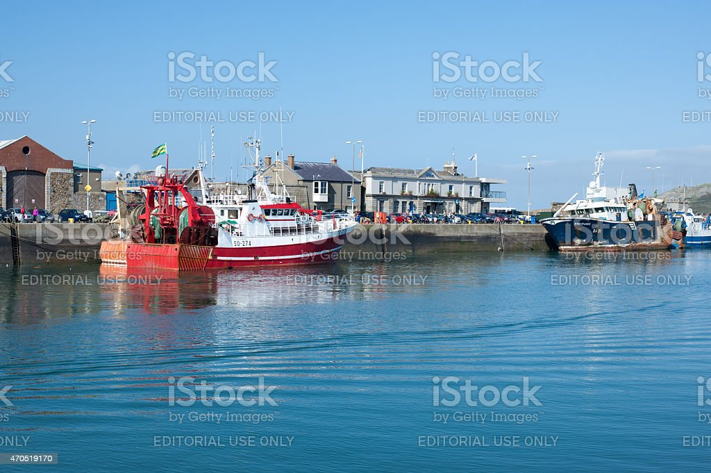 Howth harbor, Dublin,Ireland stock photo