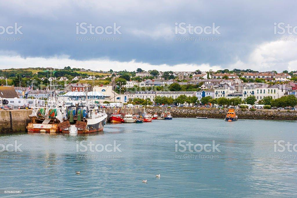 Howth harbor stock photo