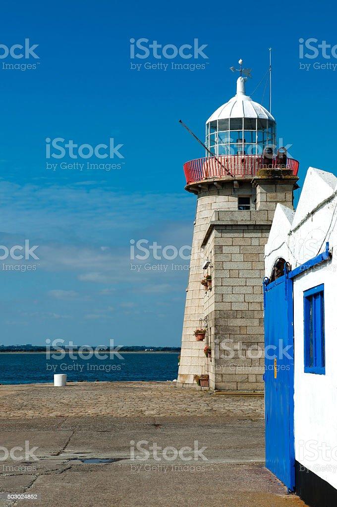 Howth lighthouse in county Dublin, Ireland stock photo