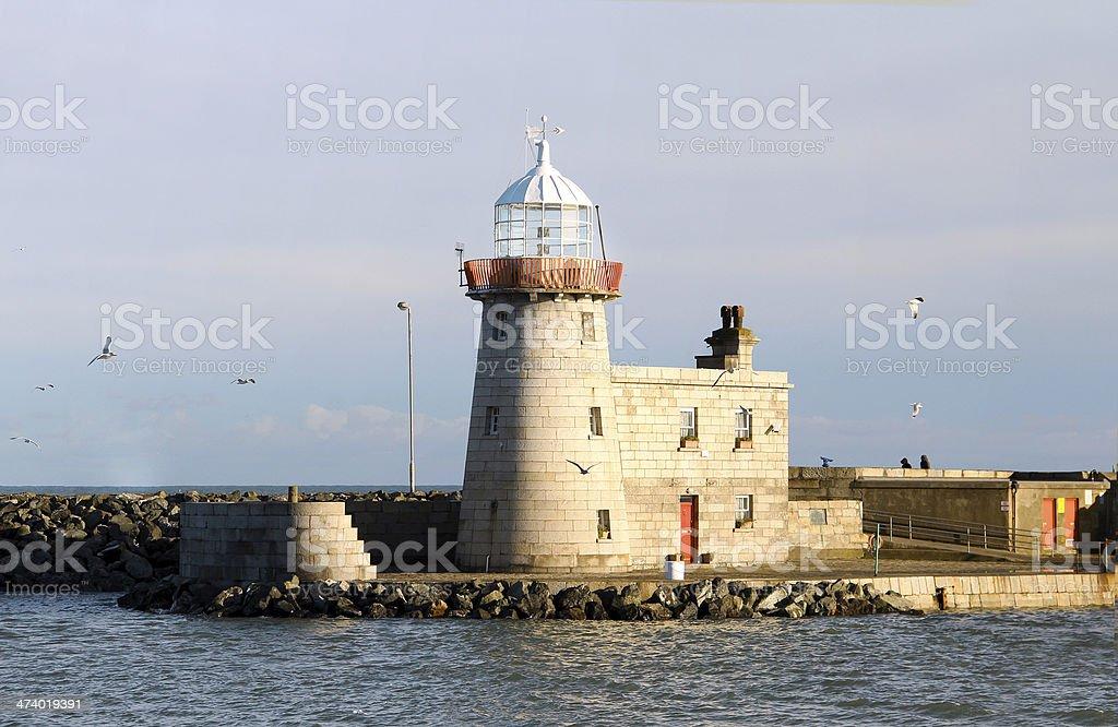 Howth Lighthouse in Dublin stock photo