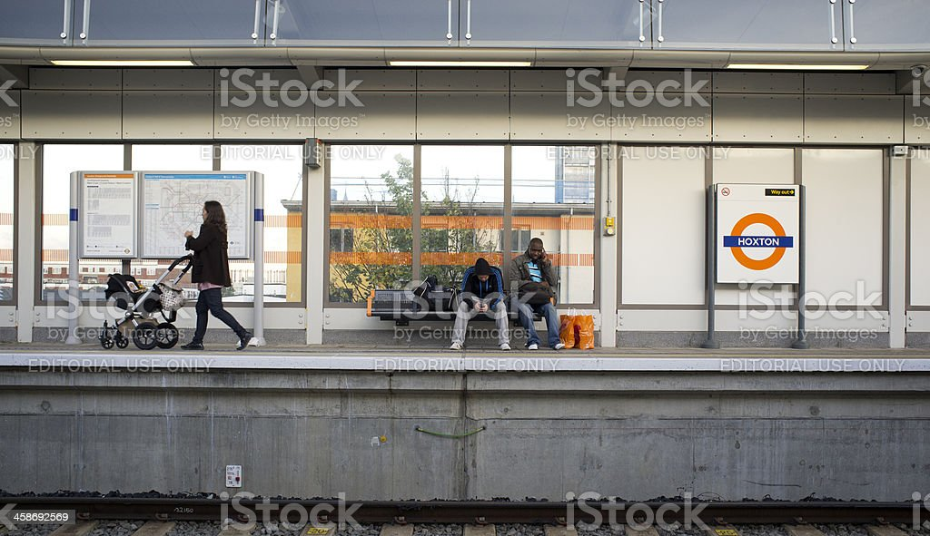 Hoxton station, London royalty-free stock photo