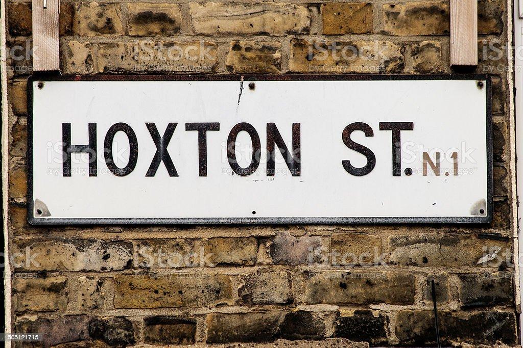 Hoxton Street stock photo