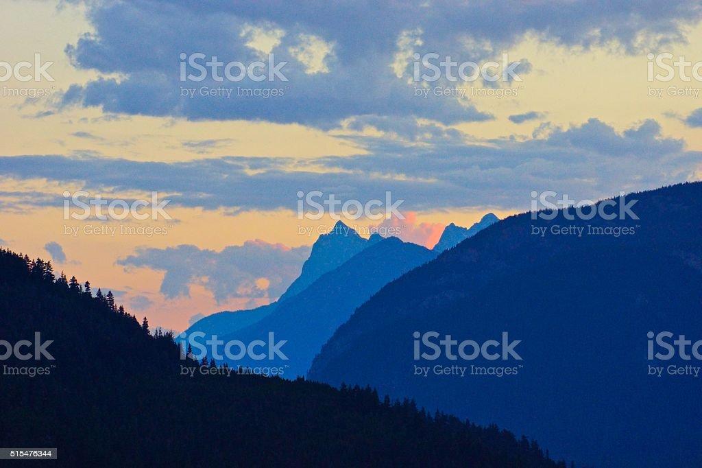 Hozomeen Mountain stock photo