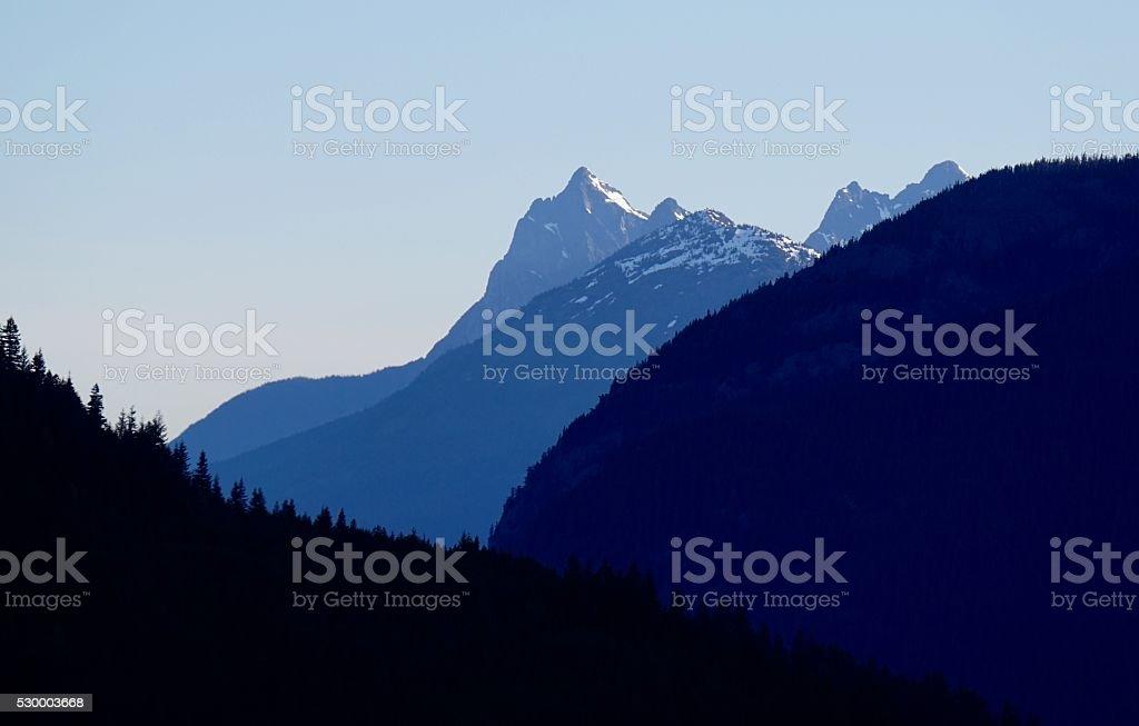Hozomeen Mountain Sunrise stock photo