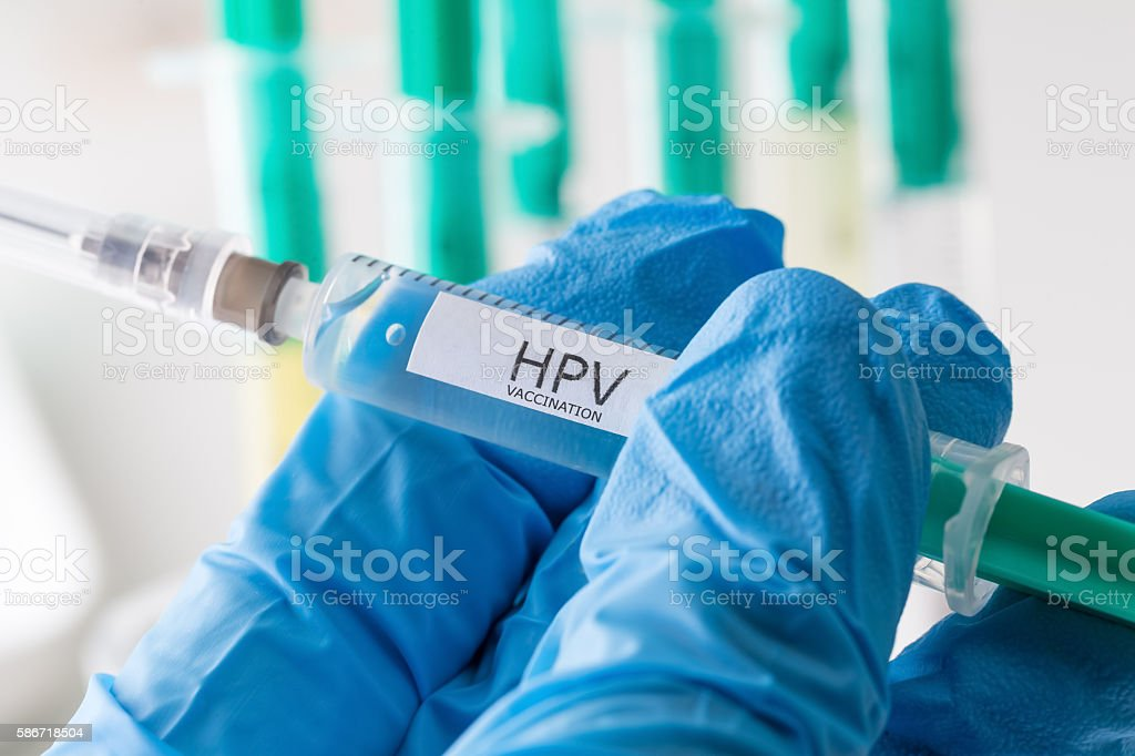 hpv vaccination stock photo