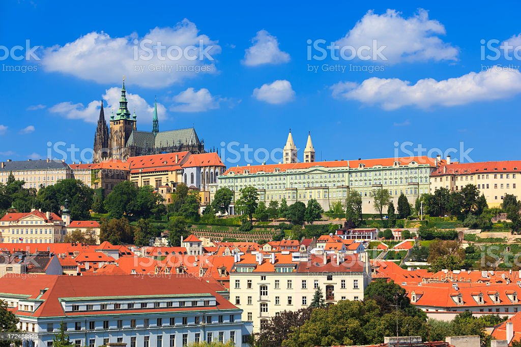 Hradcany castle in Prague by day royalty-free stock photo