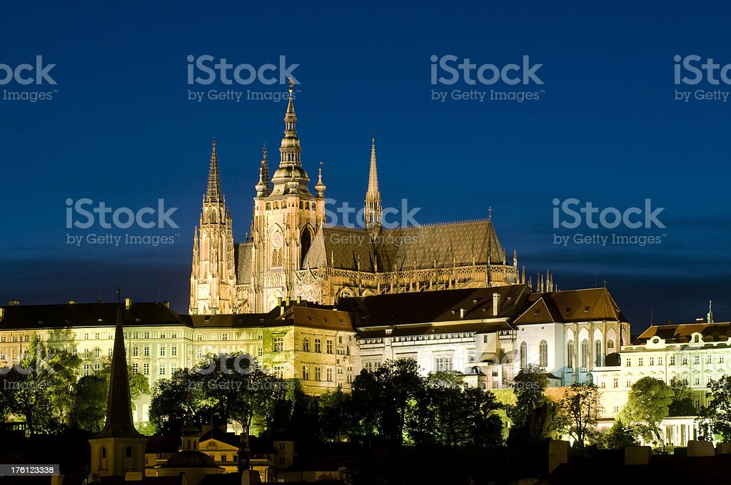 Hradcany - night view royalty-free stock photo
