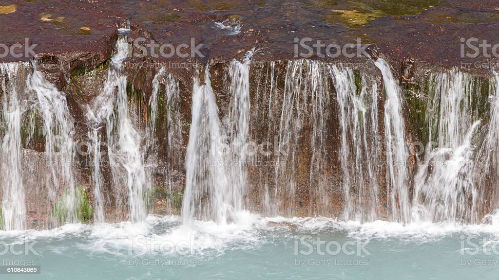 Hraunfossar waterfalls in Iceland stock photo