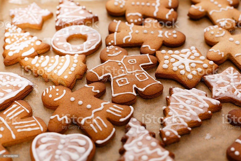 Сhristmas  gingerbread  man stock photo