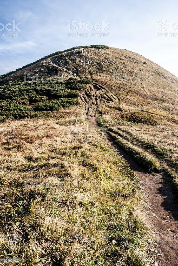 Hromove hill in autumn Mala Fatra mountains in Slovakia stock photo