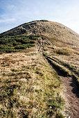 Hromove hill in autumn Mala Fatra mountains in Slovakia