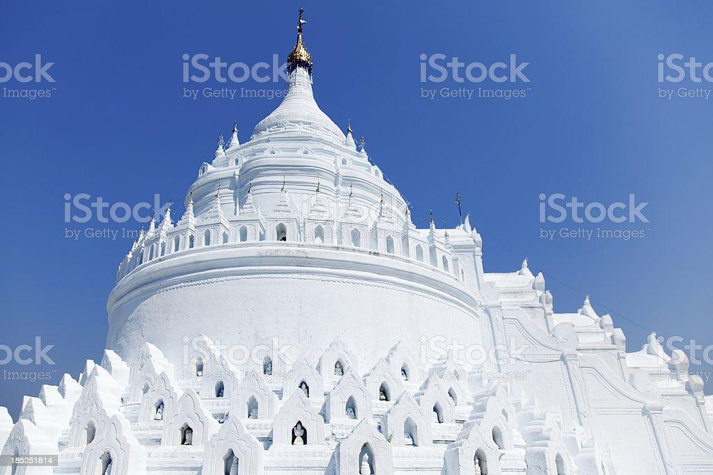 Hsinbyume pagoda, Mingun, Myanmar stock photo