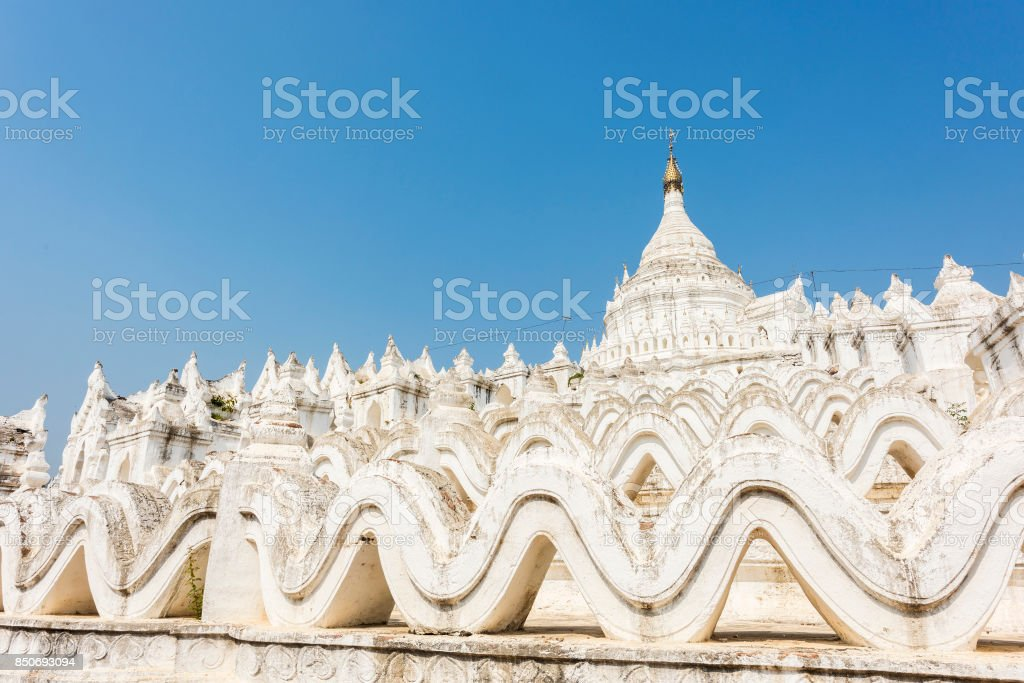 Hsinbyume Pagoda stock photo
