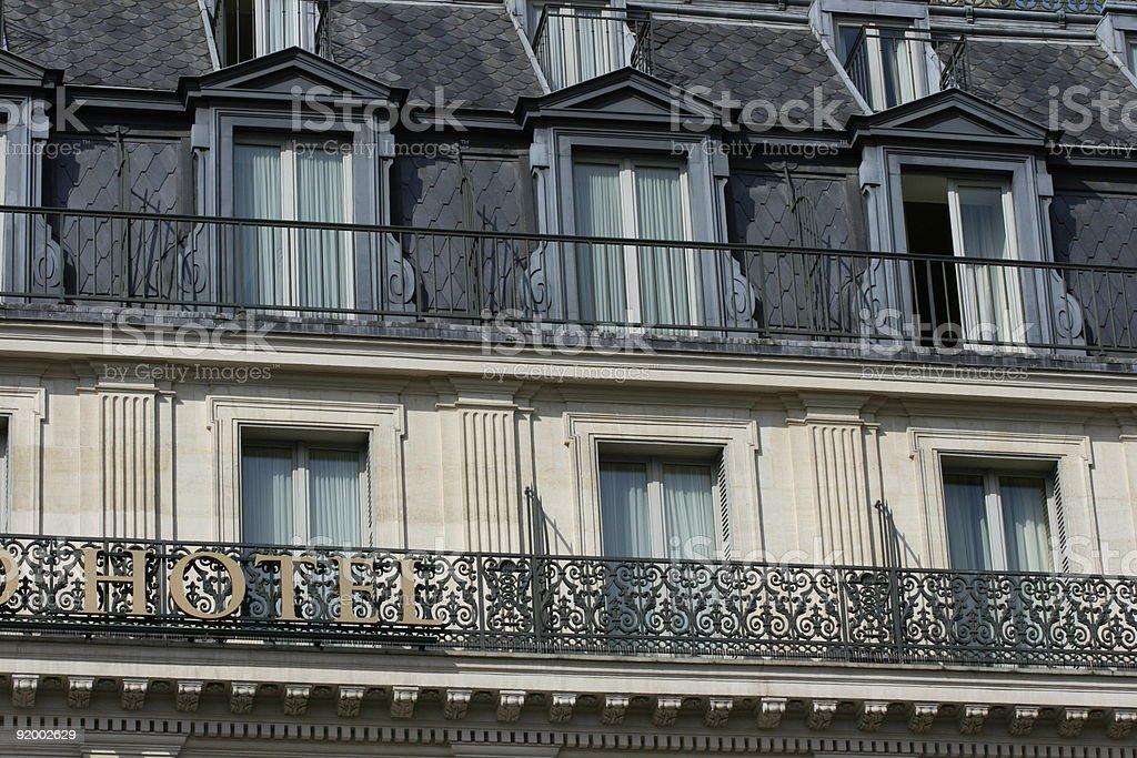 Hôtel typique à Paris stock photo