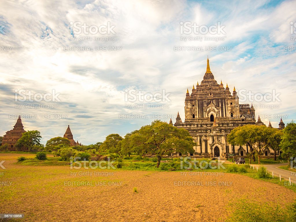 Htilominlo Temple in Bagan, Myanmar stock photo