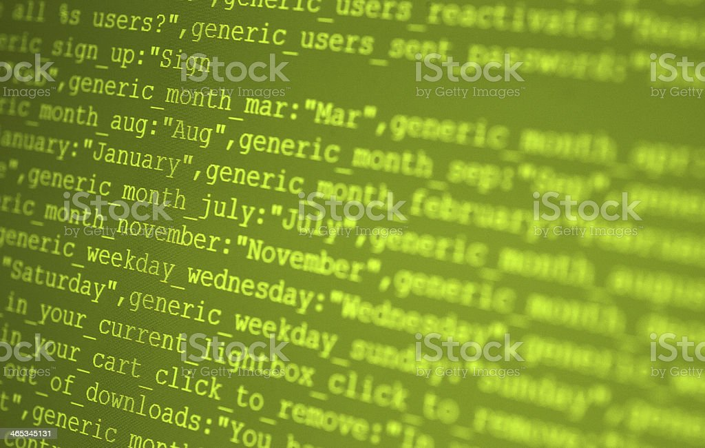Html Codes stock photo