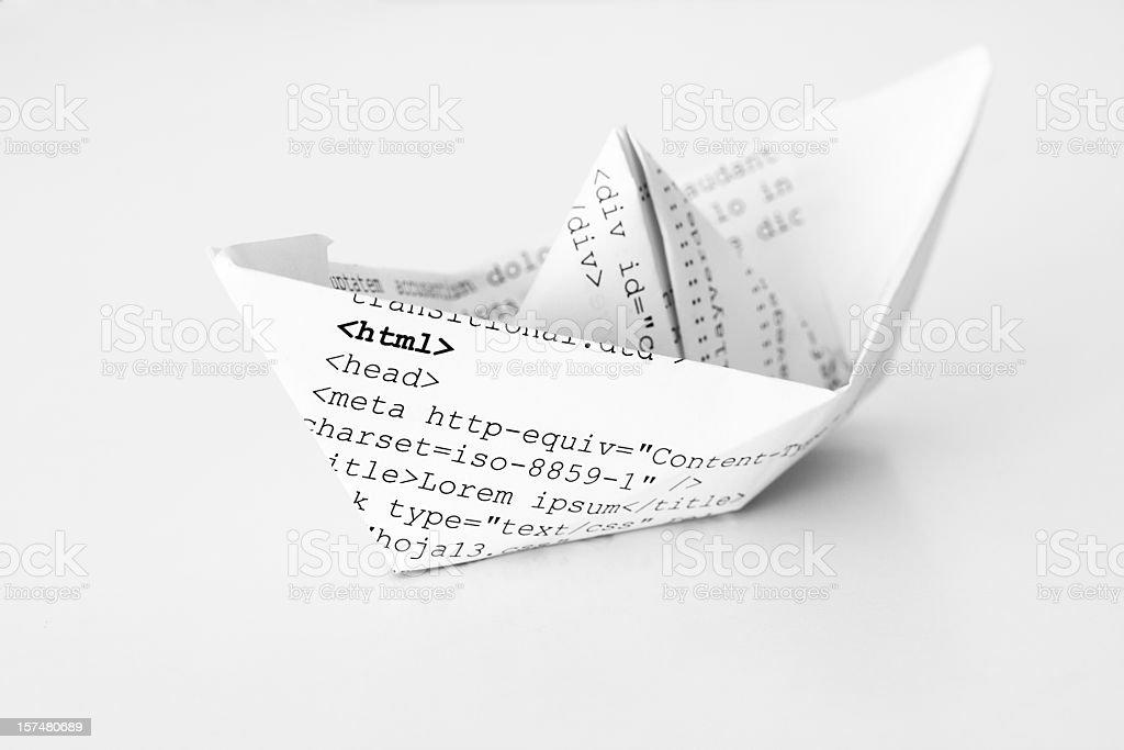 html document ship royalty-free stock photo