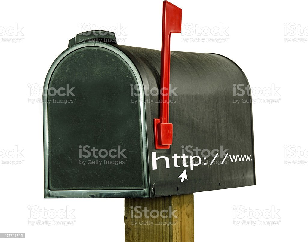 Http: and World Wide Web on Mailbox stock photo