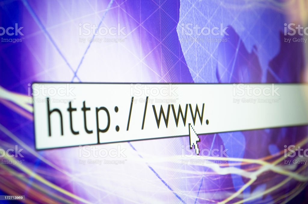 http on monitor royalty-free stock photo