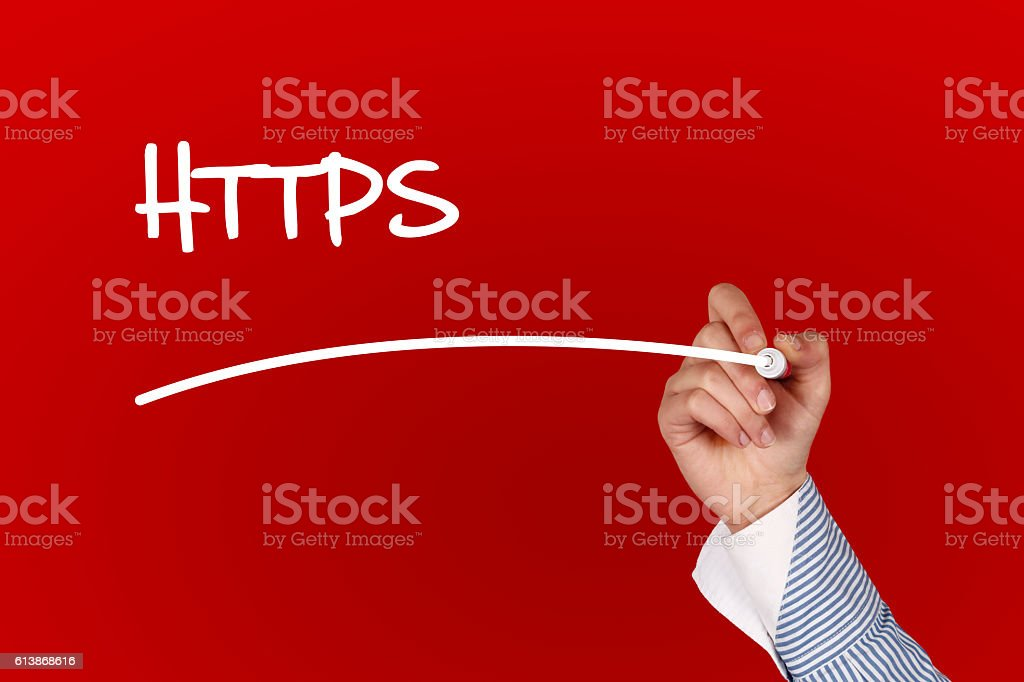 Https Text concept stock photo