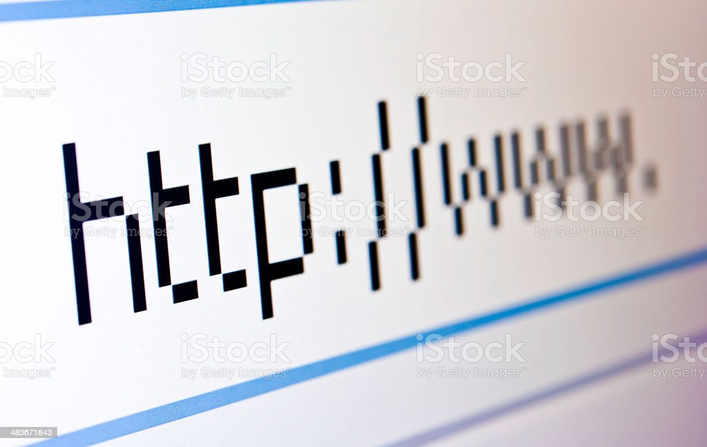 http://www Internet Address Displayed on Computer Monitor royalty-free stock photo