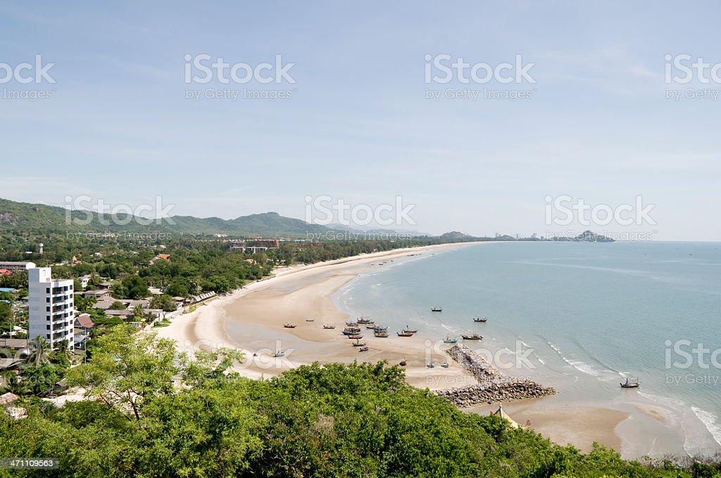 Hua Hin Beach In Thailand stock photo