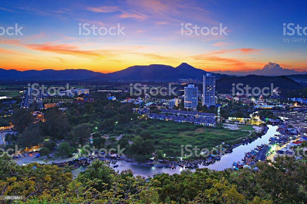 Hua -Hin beach, is famous  Thailand , stock photo