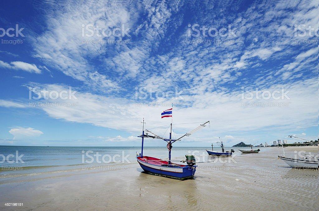Hua Hin beach stock photo