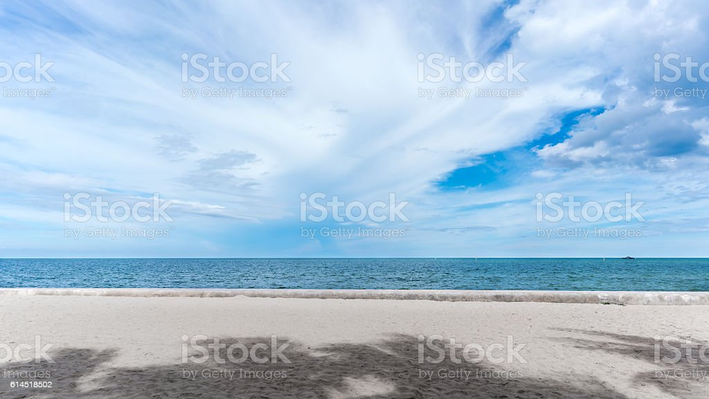 Hua Hin beach stock photo