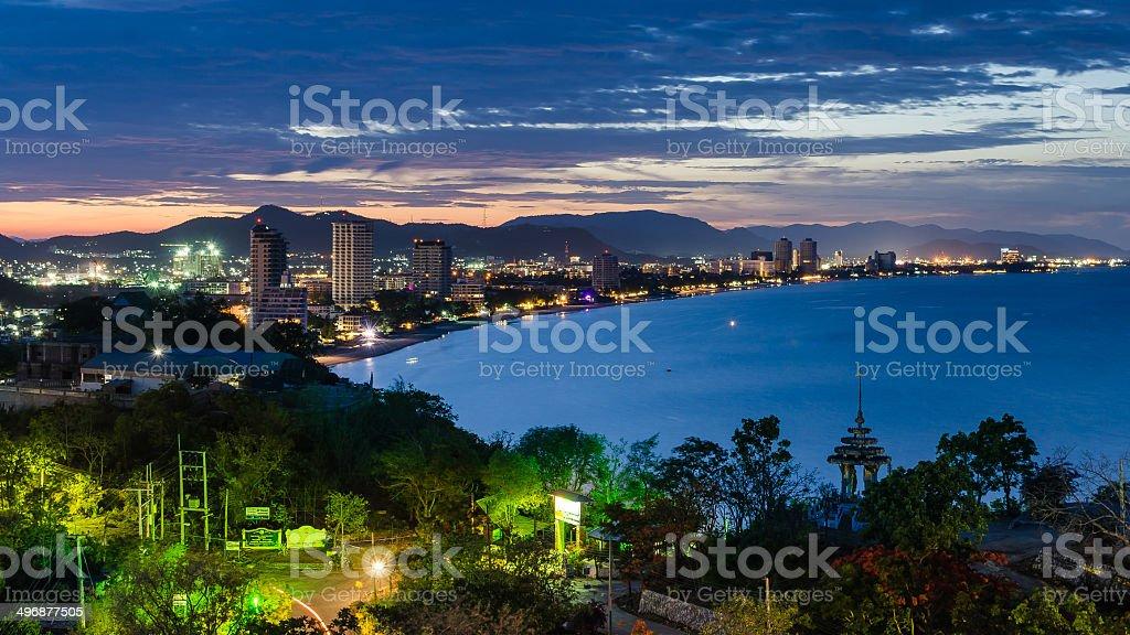 Hua Hin cityscape Thailand stock photo