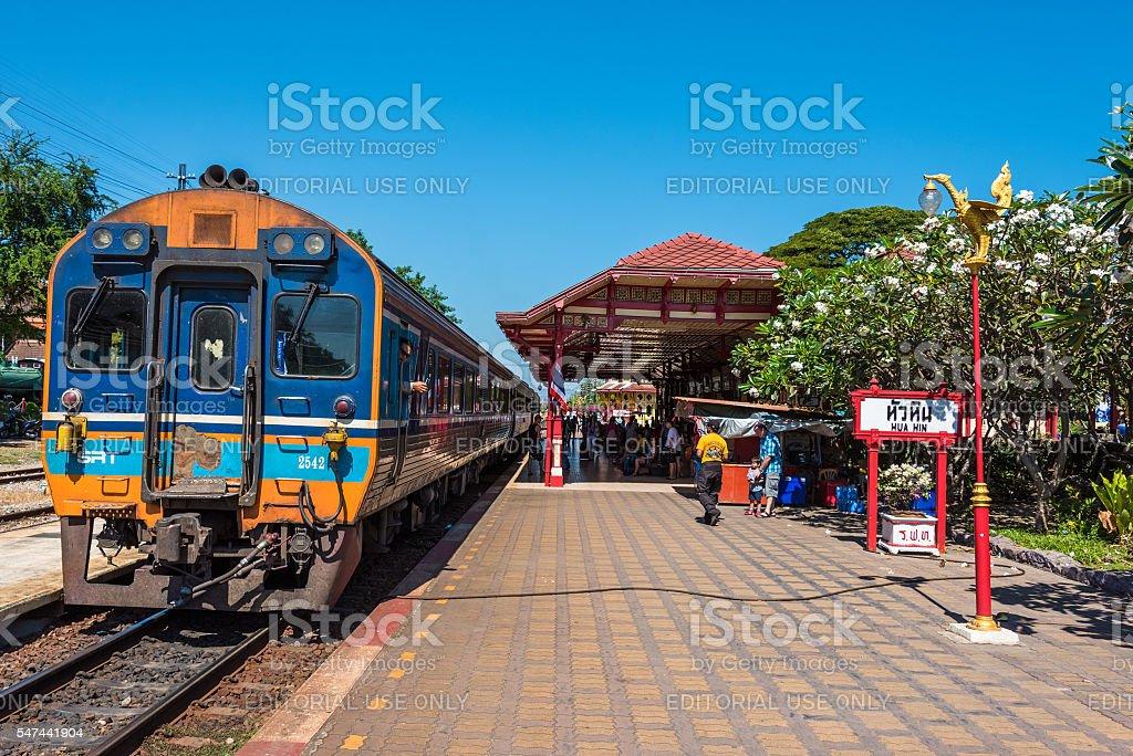 Hua Hin railway station stock photo
