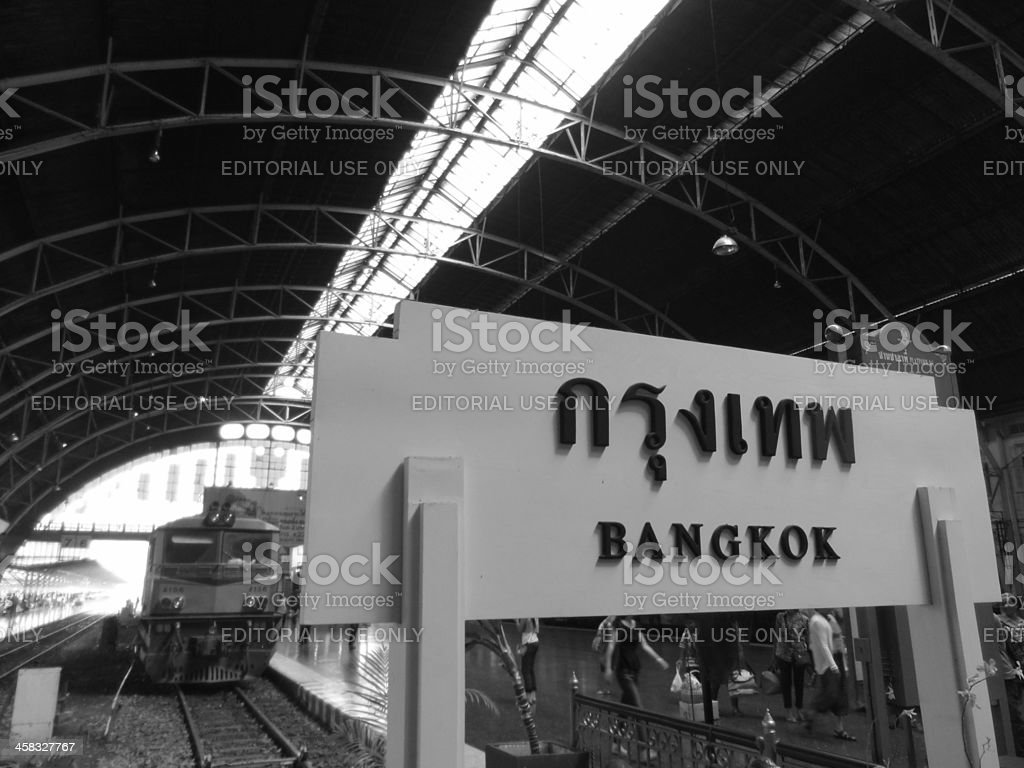 Hua Lamphong Railway Station royalty-free stock photo
