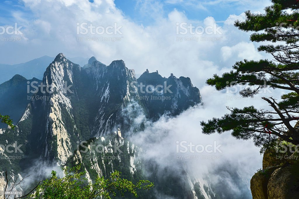 hua mountian, xian, china stock photo