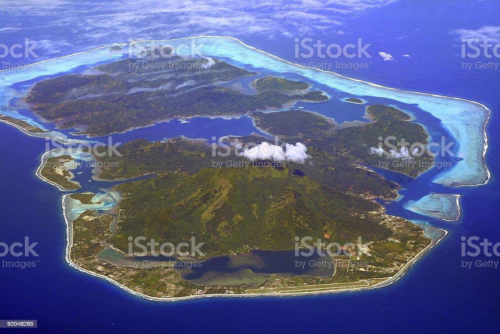 huahine island stock photo