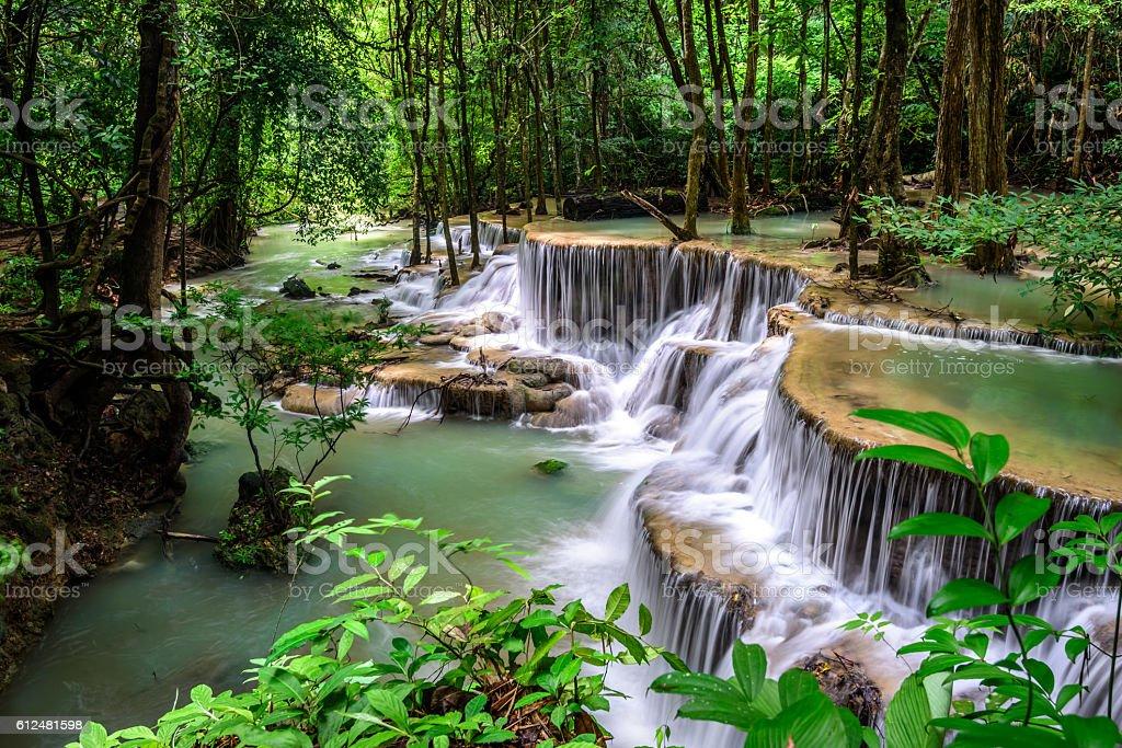 Huai Mae Kamin Waterfall stock photo