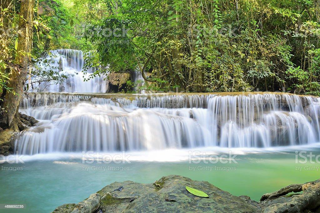 Huai Mae Khamin, the beautiful waterfall royalty-free stock photo