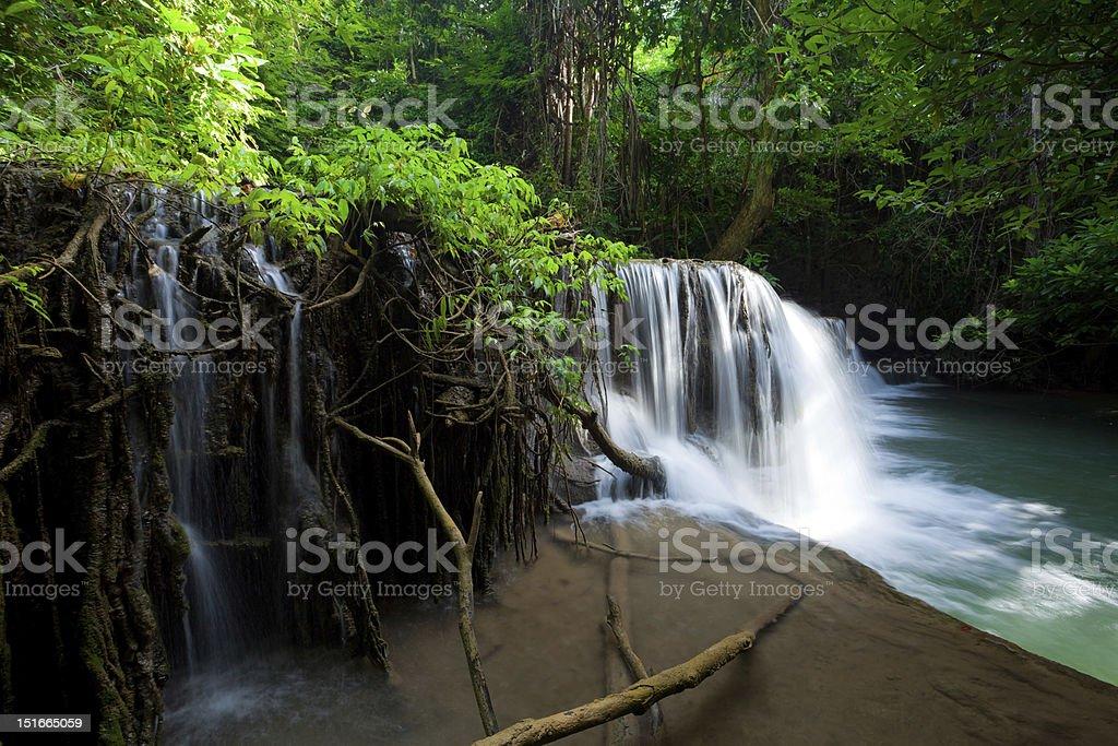 Huai Mae Khamin Waterfall stock photo