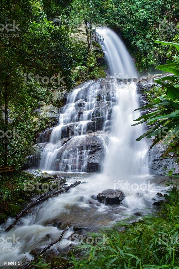 Huai Sai Lueang Waterfall stock photo