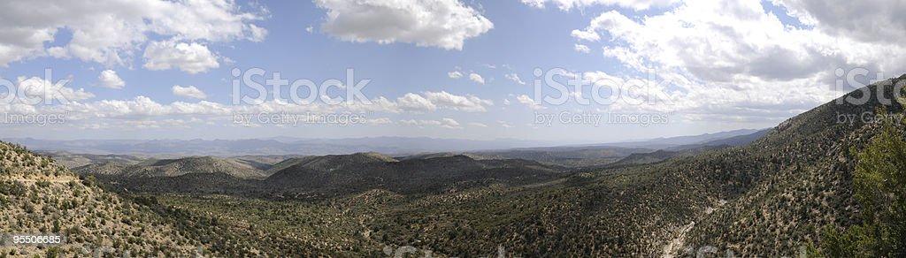 Hualapai Mountains Backside in Kingman Arizona stock photo