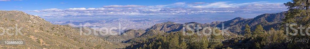 Hualapi Mountains Panoramic stock photo