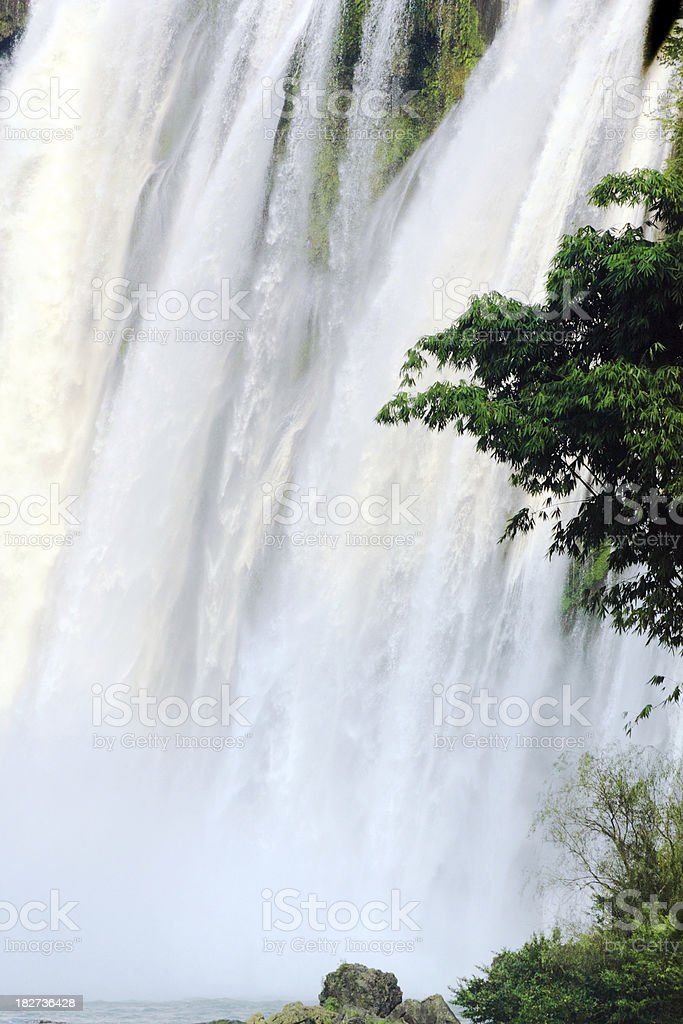 Huang Guo Shu Waterfall Part stock photo