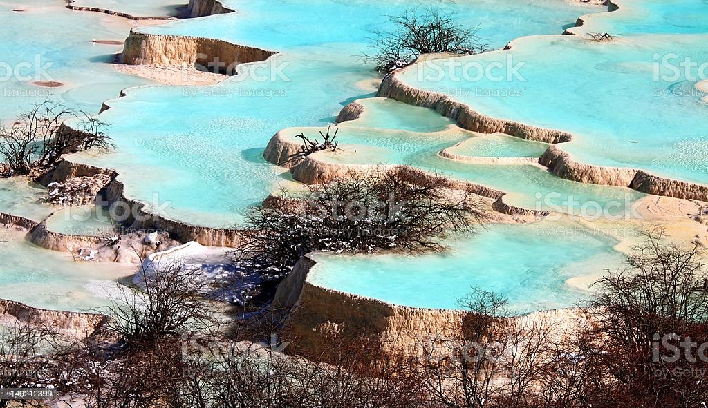 Huanglong National Park royalty-free stock photo