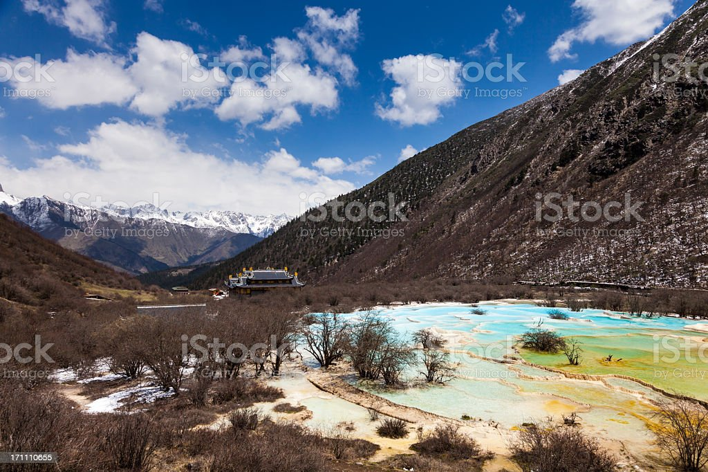 Huanglong Valley, Sichuan, China royalty-free stock photo