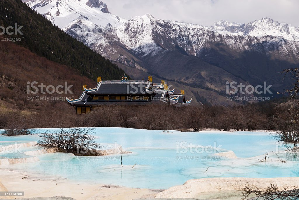 Huanglong Valley, Sichuan, China stock photo