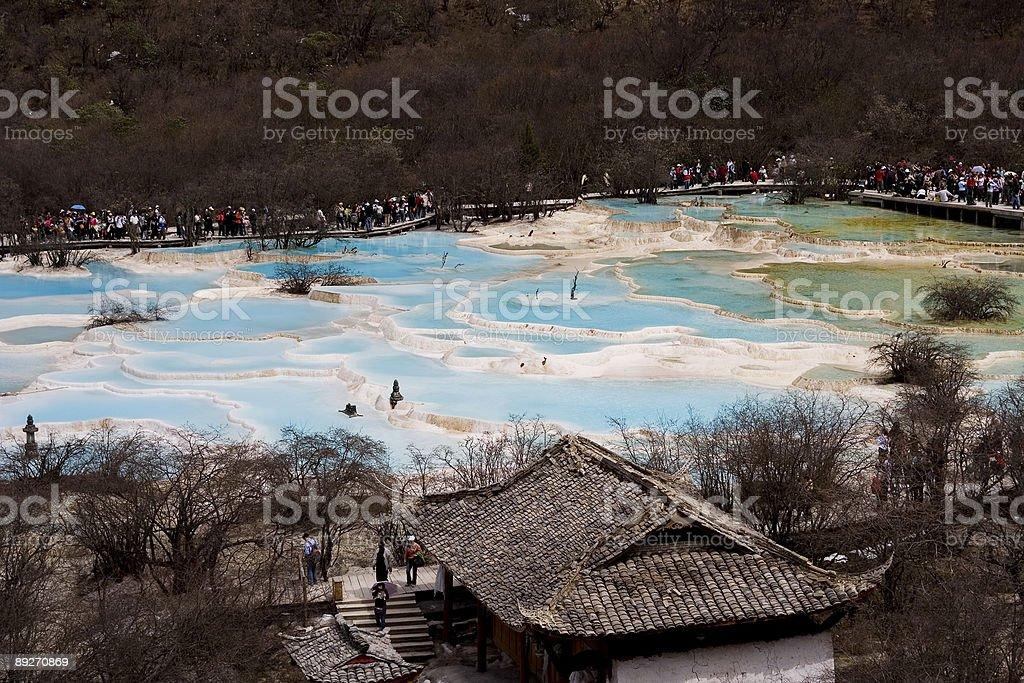 Huanglong, Yellow Dragon Valley, China royalty-free stock photo