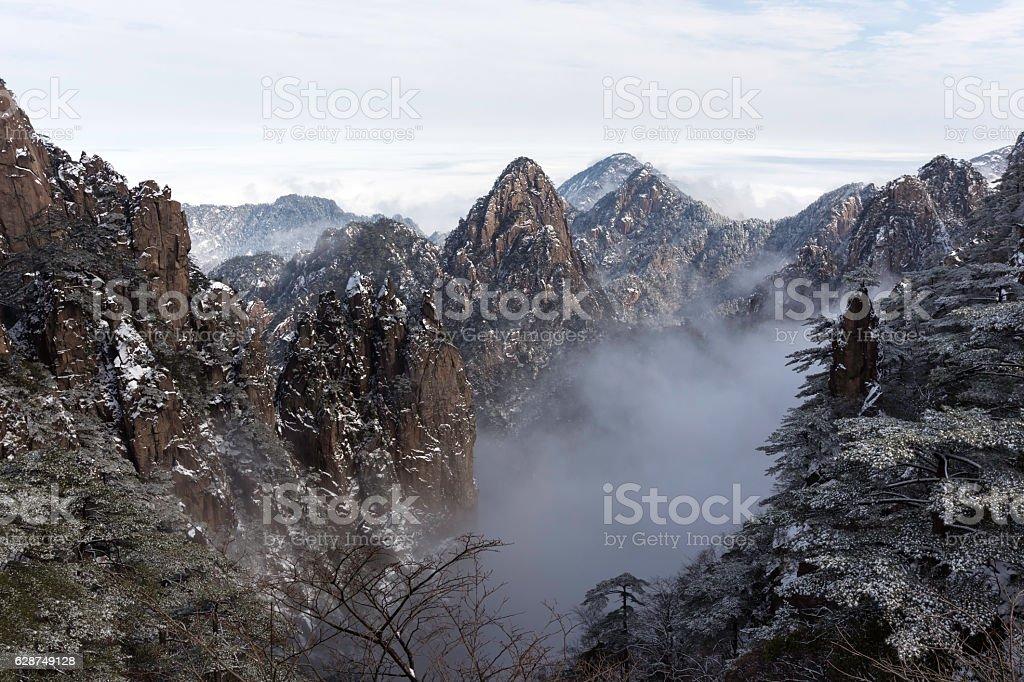 Huangshan (Yellow Mountains) China. stock photo