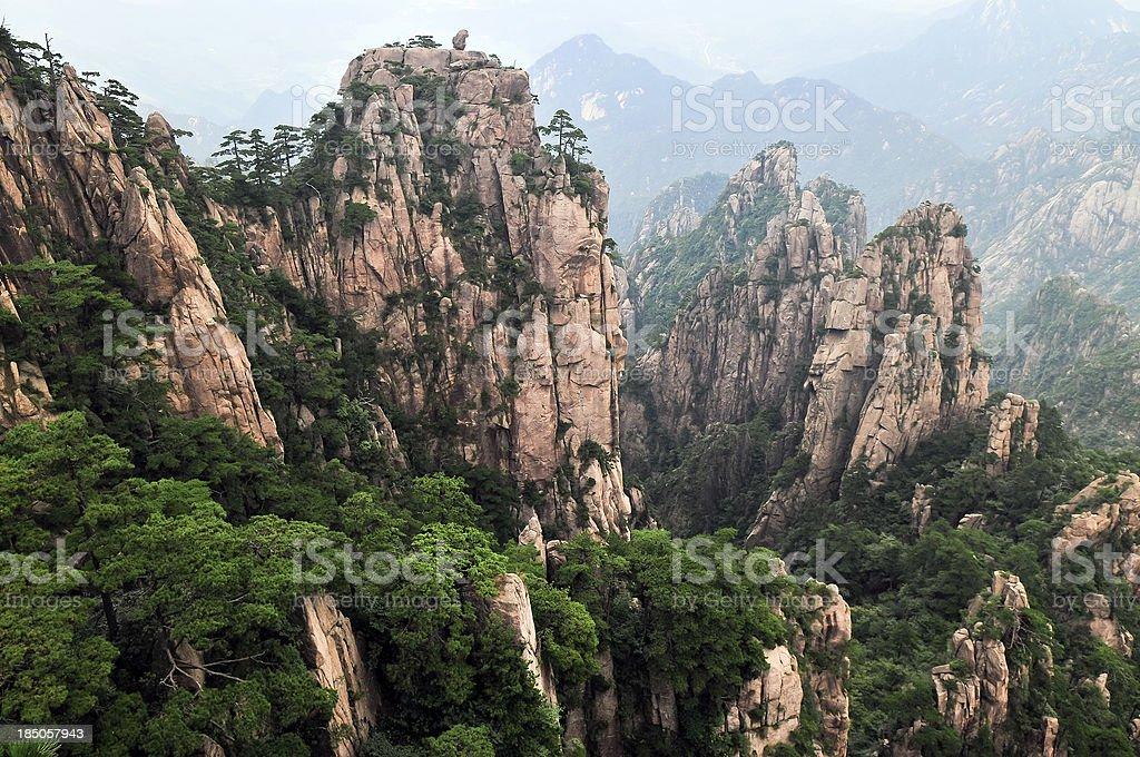 Huangshan Landscape Eastern China stock photo