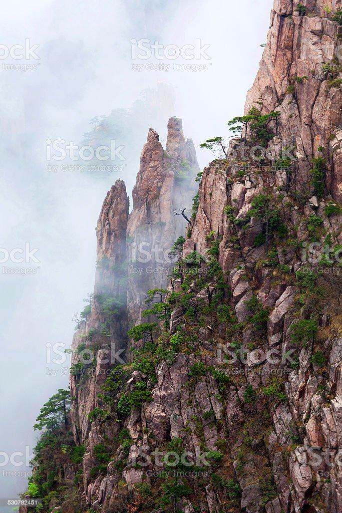 Huangshan Mountain (Yellow Mountain), China stock photo