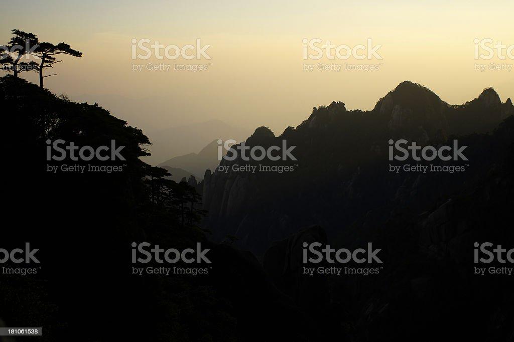 Huangshan Mountains royalty-free stock photo