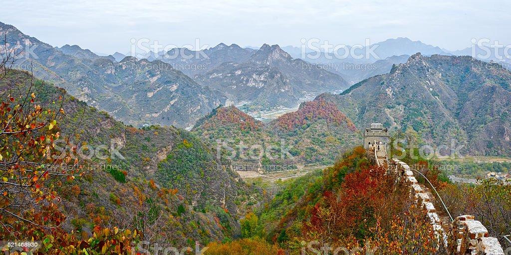 Huangyaguan Great Wall stock photo